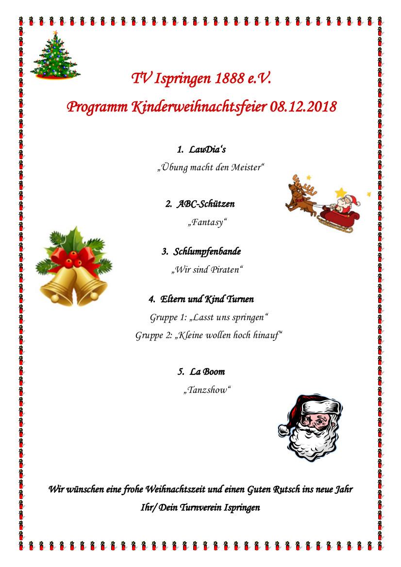 Weihnachtsfeier Kleine Gruppe.Tvi Weihnachtsfeier 2018