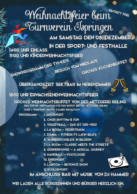 Weihnachtsfeier Plakat.Tvi Weihnachtsfeier 2018